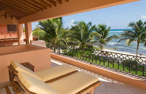 Second level terrace at Palmilla Villa vacation rental villa Akumal