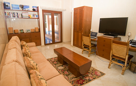 tv room at villa palmilla, jade beach vacation rental villa