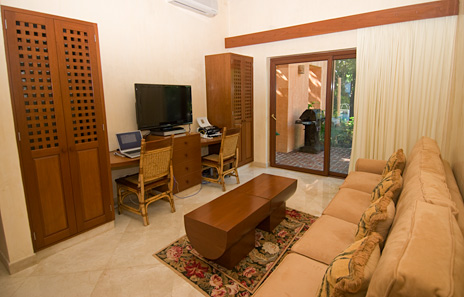 tv room and computer room at villa palmilla luxury vacation rental villa