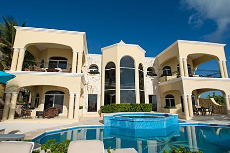 Villa Paloma from the beach