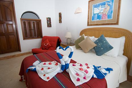 bedroom of playa caribe #11 akumal vacation rental condo