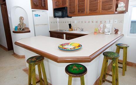 kitchen of  playa caribe #11 akumal vacation rental condo
