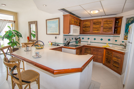 kitchen of playa caribe akumal vacation rental condo