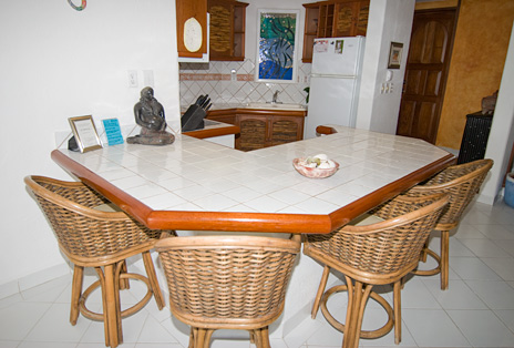 Breakfast bar Playa Caribe #4 Akumal rental condo