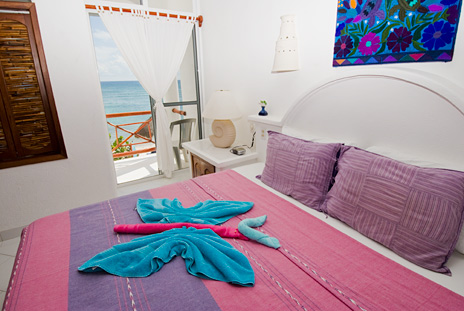 Bedroom #2 of Playa Caribe #5, Akumal vacation rental villa on Half Moon Bay
