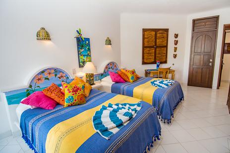 Bedroom #2 at Playa Caribe #6 Akumal vacation rental condo on Half Moon Bay