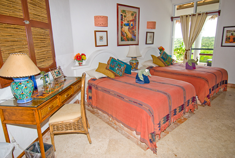 bedroom of playa caribe #7, akumal vacation rental condo