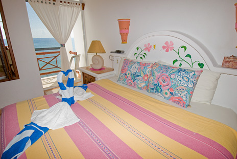 Bedroom of Playa Caribe #8, Akumal vacation rental condo on Half Moon Bay