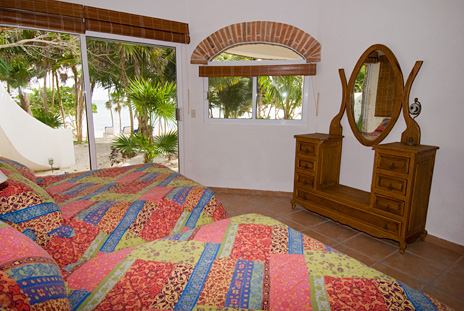 Bedroom #1 at Playa del Caribe vacation rental villa on South Akumal Bay