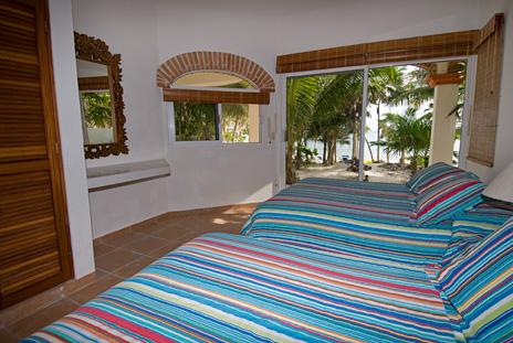 Bedroom #2 at Playa del Caribe vacation rental home on South Akumal Bay