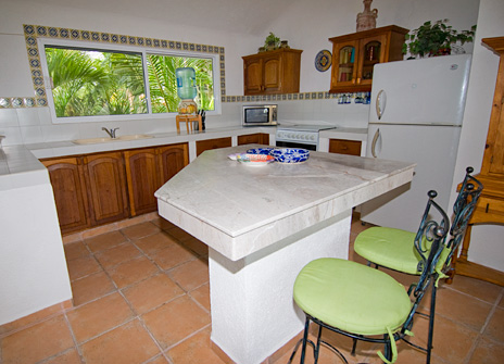 Kitchen at Playa del Caribe vacation rental property on South Akumal Bay