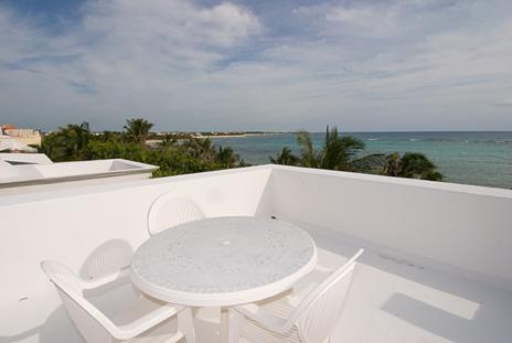 Rooftop views at  Playa del Caribe vacation villa on South Akumal Bay
