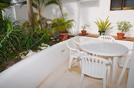 Patio area of  Playa Caribe Akumal Vacation Rental Condos