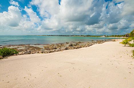 beach at Villa Pelagia vacation rental villa on tankah bay