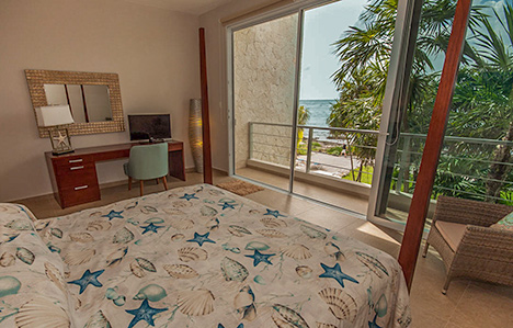 Bedroom Villa Pelagia vacation rental villa, riviera maya, mexico