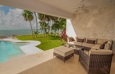 Outdoor living room Villa Pelagia vacation rental villa, riviera maya, mexico