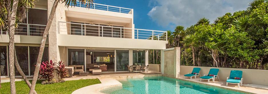 Villa Pelagia exterior, vacation rental villa on tankah bay, riviera maya, mexico