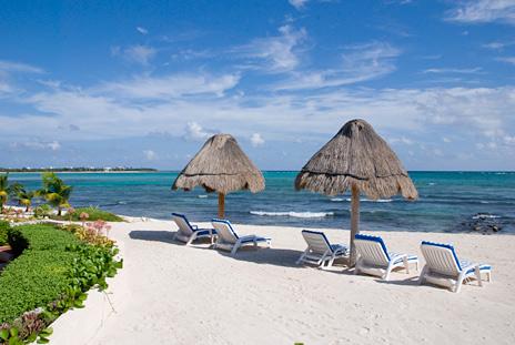 Beachside Palapas at Playa Azul Tankah