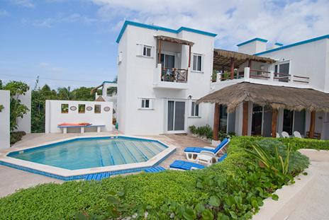 Exterior of Villa Playa Azul, Tankah vacation rental villa