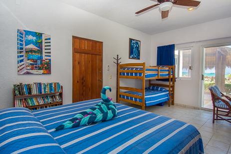 Bedroom 3 Villa Playa Azul, Tankah vacation rental villa