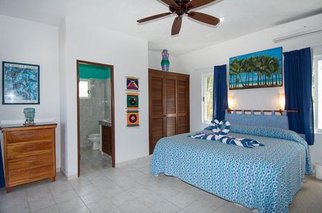 Bedroom 1 Villa Playa Azul, Tankah vacation rental villa