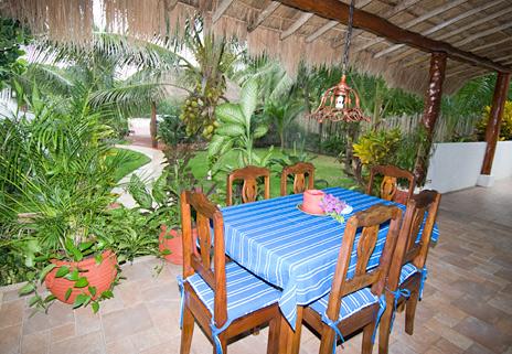 Patio at Villa Playa Azul, Tankah vacation rental villa