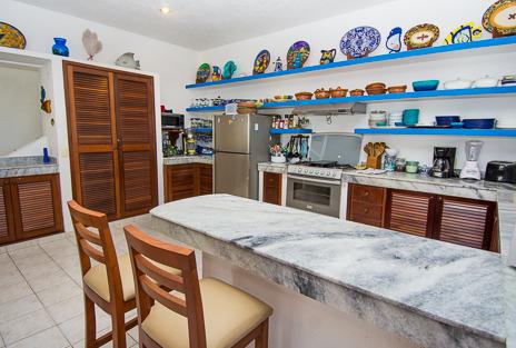 Kitchen Casa Playa Azul, Tankah vacation rental villa