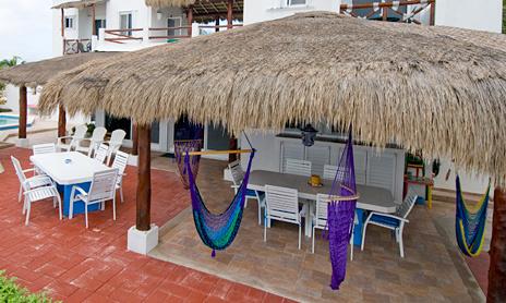 Patio Villa Playa Azul, Tankah vacation rental villa on the beach
