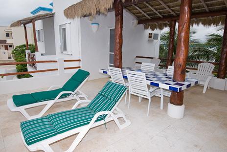 2nd floor patio Playa Azul, Tankah Mexico vacation rental villa