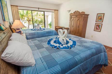 Bedroom #2  at Los Primos South Akumal vacation rental home