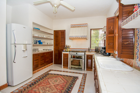 Kitchen of Los Primos South Akumal vacation rental villa