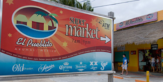 Grocery store Akumal, Mexico