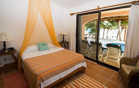 Bedroom #3 at Casa Rosa vacation rental villa on Tankah Bay, south of Akumal on Riviera Maya