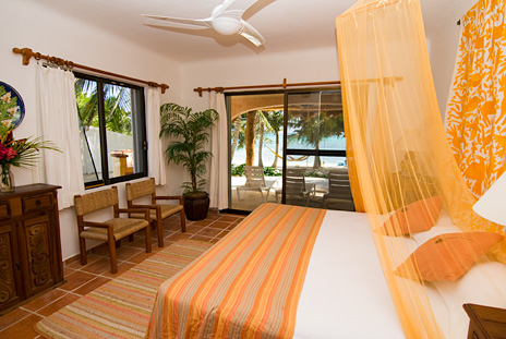 BR #2 of Casa Rosa vacation rental home on Tankah Bay on the Riviera Maya