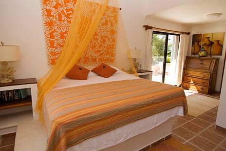 BR #1 of Casa Rosa vacation rental villa on Tankah Bay south of Akumal Mexico
