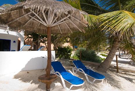 Shaded area at  Casa Salvaje Akumal Aventuras vacation rental home