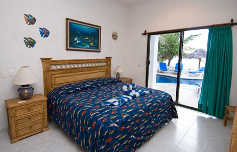 Bedroom #1 at Casa Salvaje Akumal Aventuras vacation rental villa