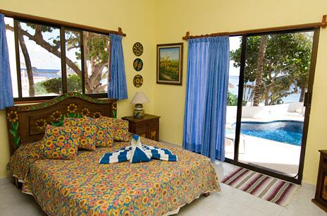 Bedroom #3 at Casa Salvaje Akumal Aventuras vacation rental villa