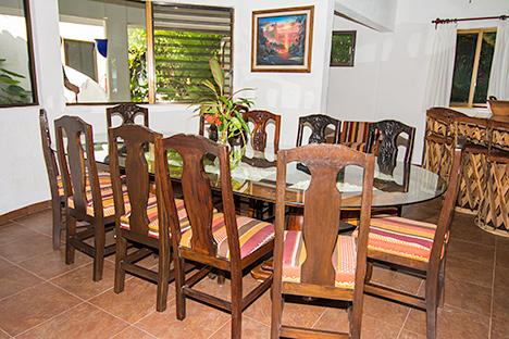 Dining room at Casa Salvaje Akumal Aventuras vacation rental villa