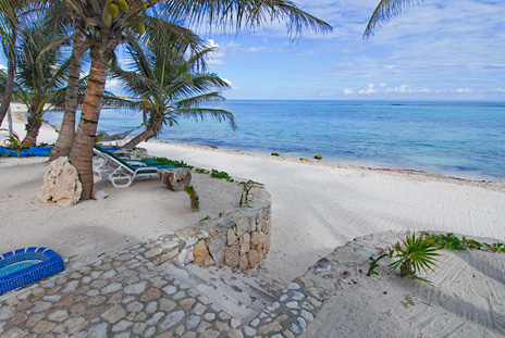Steps to the beach at Casa San Francisco vacation rental villa in South Akumal