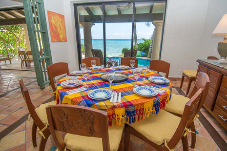 Dining room at Casa San Francisco vacation rental home in South Akumal