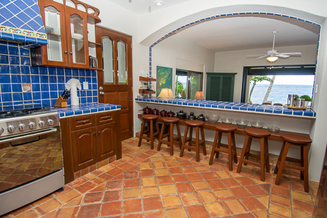 Kitchen at Casa San Francisco vacation rental villa in South Akumal