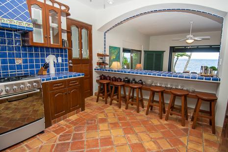 Kitchen at Casa San Francisco vacation rental villa in South Akumal