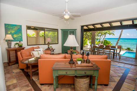 Another view of the living room at Casa San Francisco vacation rental villa in South Akumal