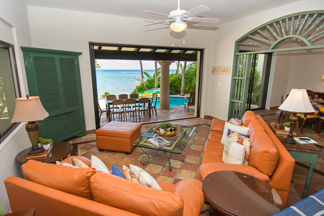 Another view of the living room at Casa San Francisco vacation rental villa in South Akumal