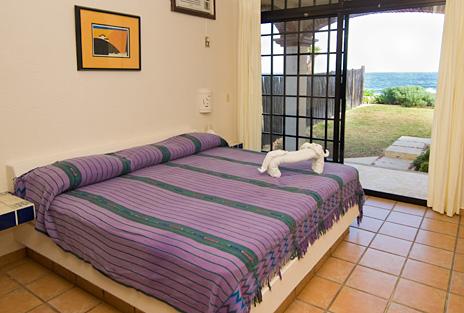 Bedroom #1 at Sea Gate  4 BR Akumal vacation rental villa on the Riviera Maya