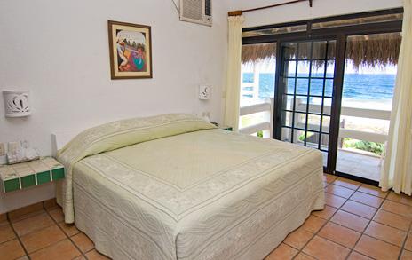 Bedroom #3 at Sea Gate  4 BR Akumal vacation rental villa on the Riviera Maya