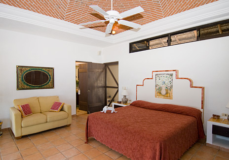 Bedroom #2 at Sea Gate  4 BR Akumal vacation rental villa on the Riviera Maya