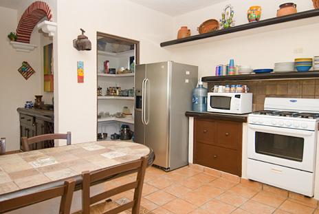 Kitchen at Sea Gate  4 BR Akumal vacation rental villa on the Riviera Maya