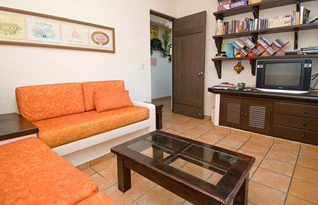TV room at Sea Gate  4 BR Akumal vacation rental villa on the Riviera Maya